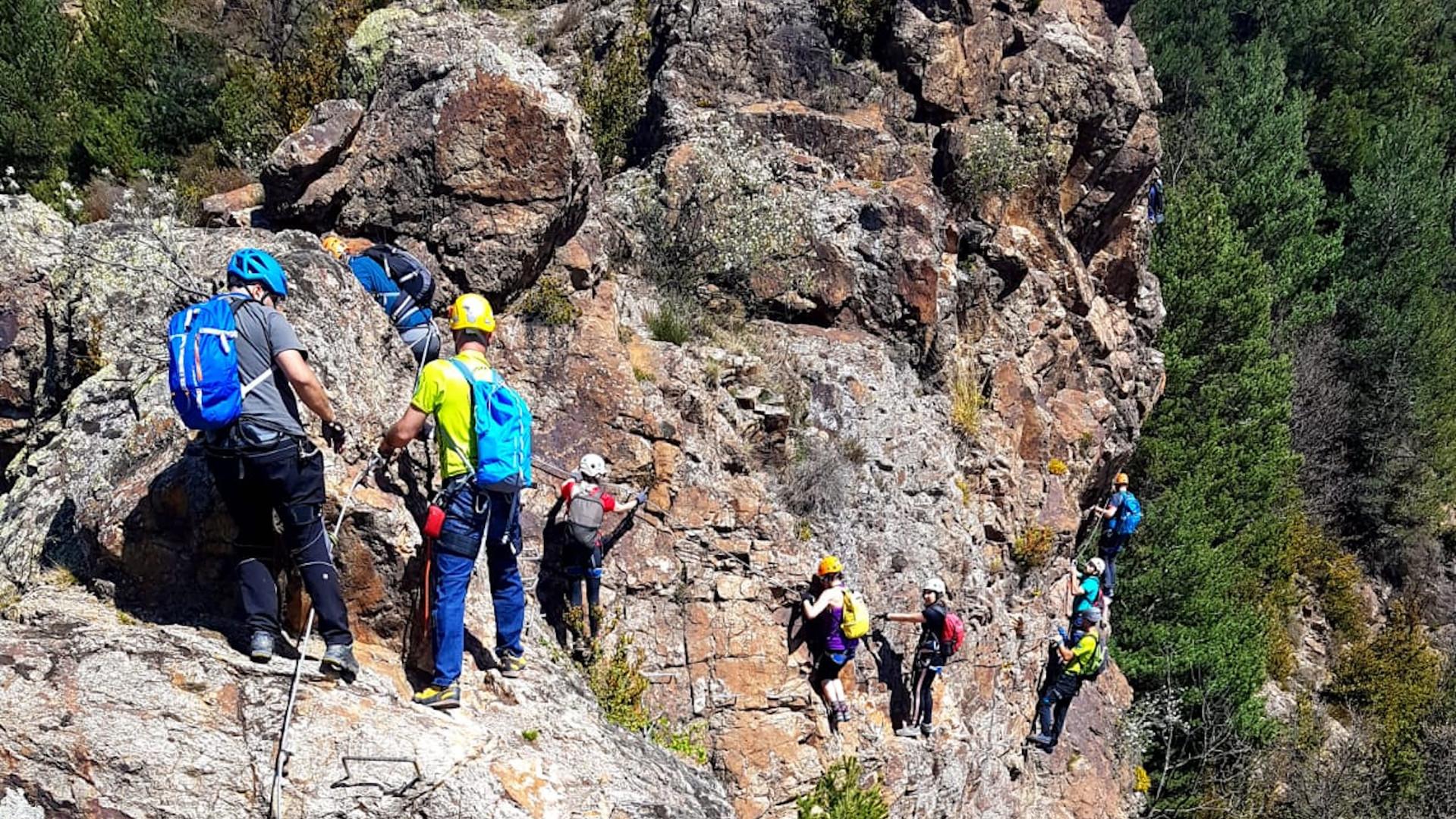 Climbing via ferrata Roca de la Creu