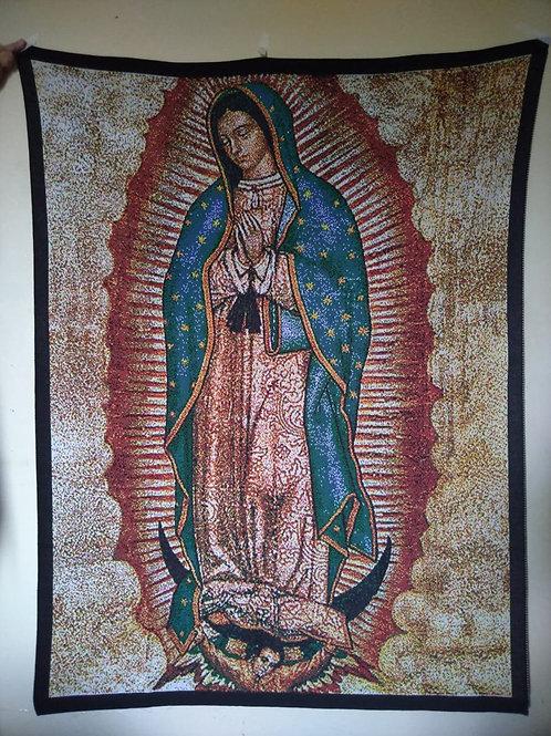 Nossa Senhora de Guadalupe tela tricotada
