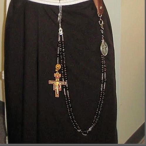Coroa de São Francisco,rosario de cintura,Disciplina, chicote, peitencia,cilicio,Cilicios para penitencia, igreja católica