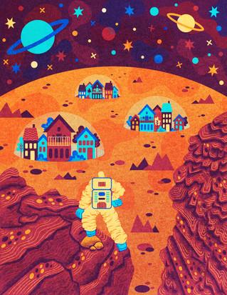 Suburbia Takes Over Mars