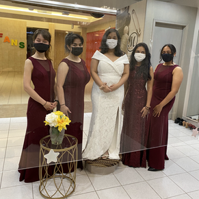 Lovely Bride and Bridal Party
