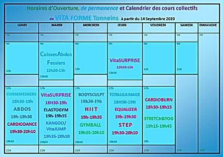 horaires d'ouverture et calendrier des c