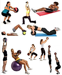 medecine ball gym fitness
