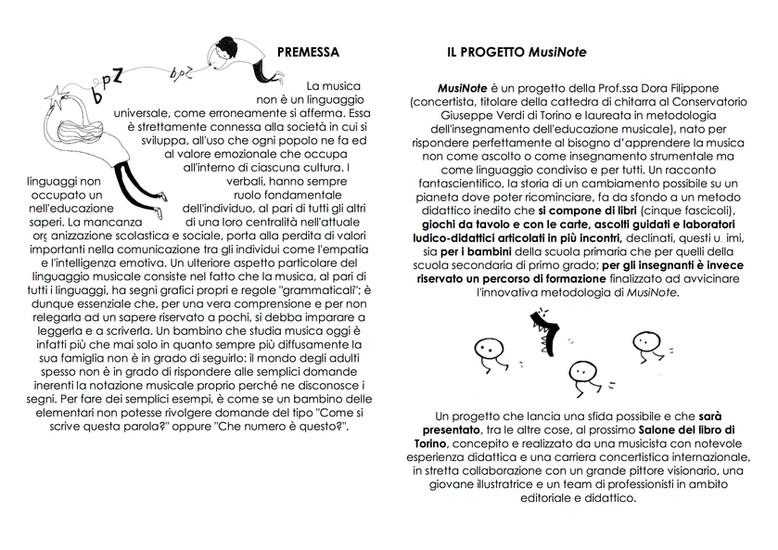 Brochure Presentazione Progetto  MusiNot