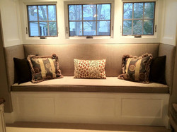 Custom Bench and Pillows