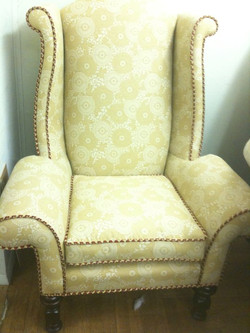 Wing Chair with Custom Cording