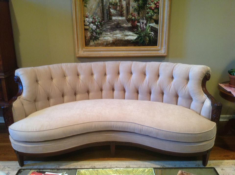 Tufted Antique Sofa