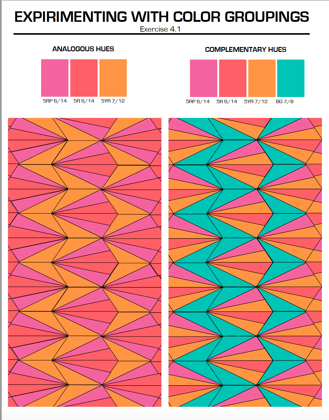 Color Schemes & Geometric Pattern