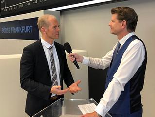 Interview an der Deutschen Börse Frankfurt