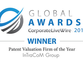 "Awarded as ""Patent Valuation Firm of the Year""!"