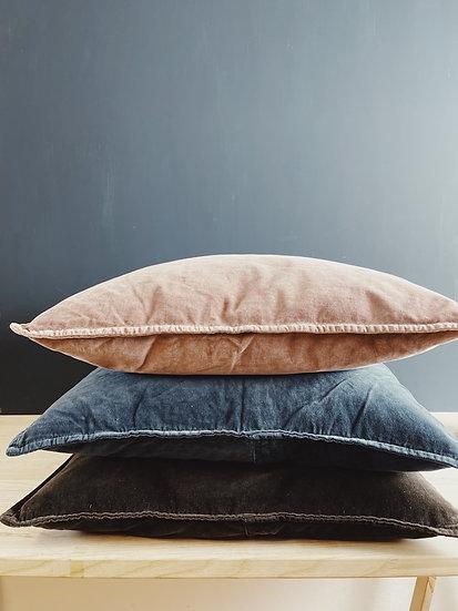 Velvet Pillow, Historical blue