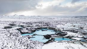 A Viking enjoying a hot bath in Iceland