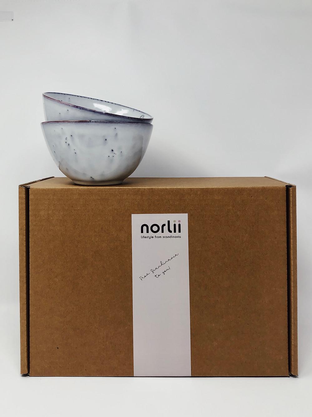 Nordic Sand bowls from Broste Copenhagen