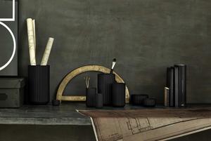 Vases on a desk