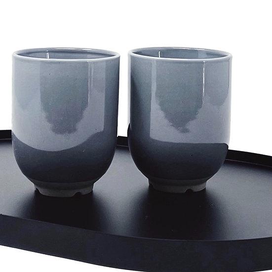 Two Broste cups, soft bluegrey