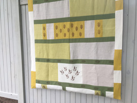 hand printed patchwork quilt