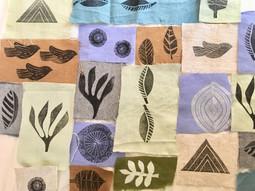 original design stamp collage