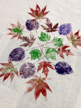 leaf printed fabric