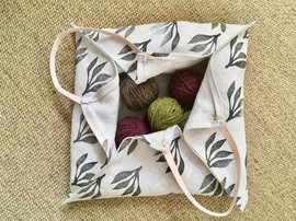 4 corner linen tote bag