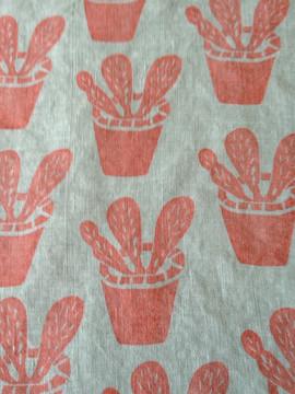 hand stamped linen