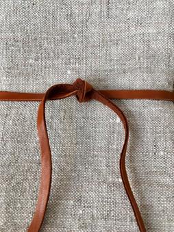 organic linen napkin detail