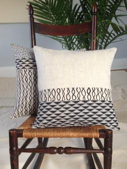 cotton/linen patchwork pillows