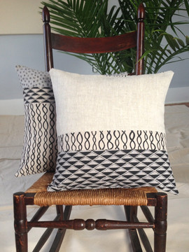 cotton/linen patchwork pillows