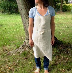 organic linen apron