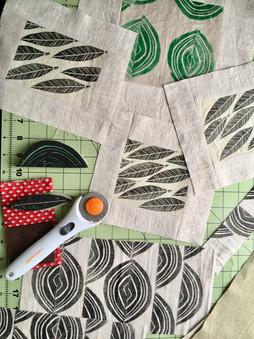 hand stamped patchwork