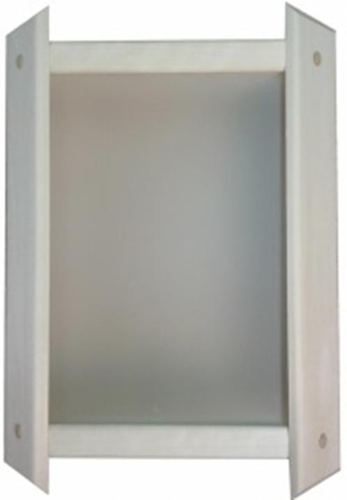 Абажур угловой стекло белое