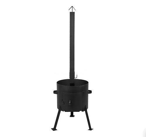 Печь под казан с трубой 480 мм.(под казан 22-30 л)