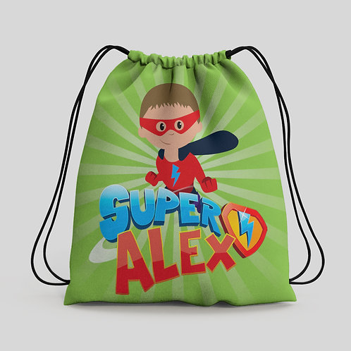 Mochila saco infantil Super Zings