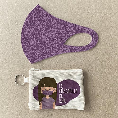 Mascarilla + Estuche Violeta