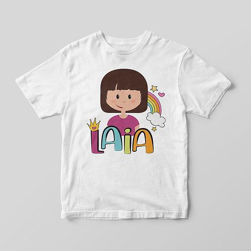 Camiseta Arco Iris Rosa