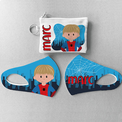 Mascarilla + Estuche Spiderman