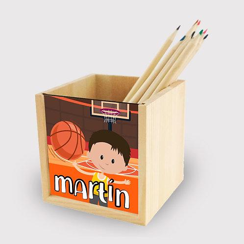 Lapicero madera Basket
