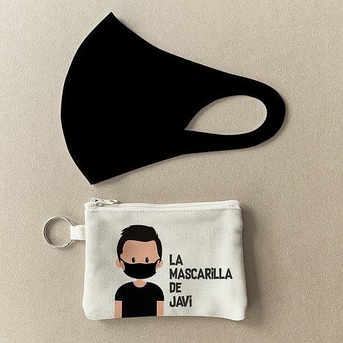 Mascarilla + Estuche Negro