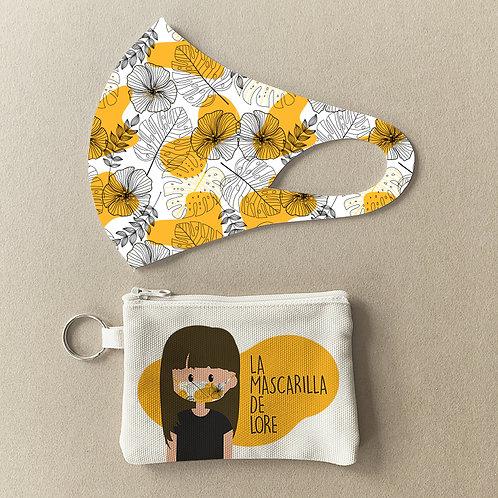 Mascarilla + Estuche Hojas Amarillas