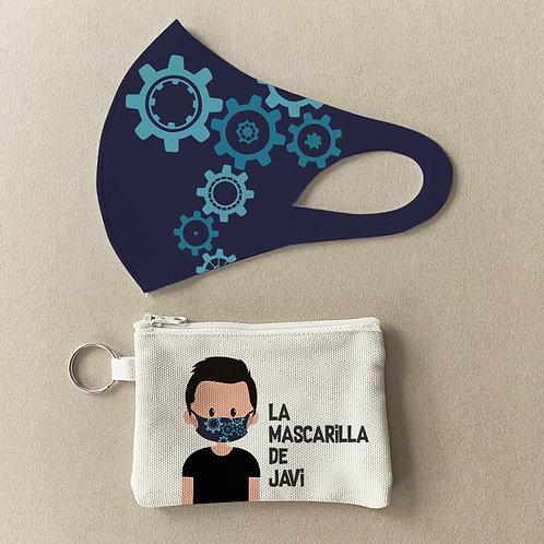 Mascarilla + Estuche Mapa Engranajes