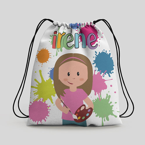 Mochila saco infantil Pintura