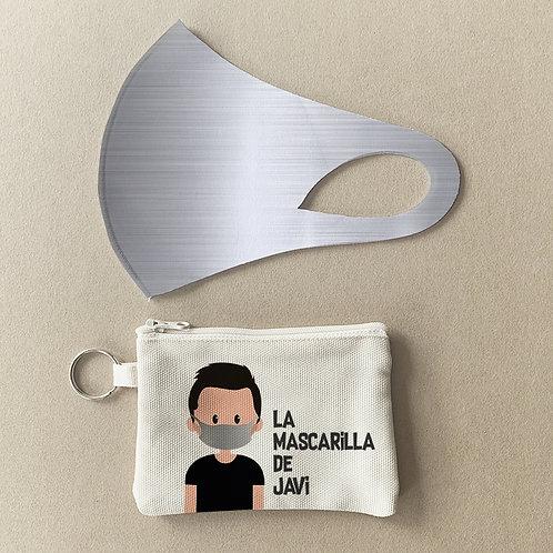 Mascarilla + Estuche Metal I