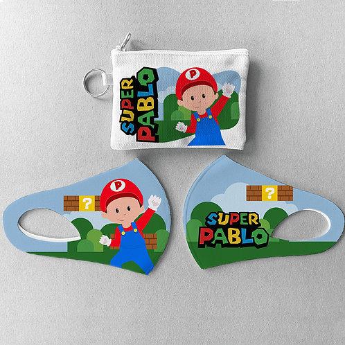 Mascarilla + Estuche Super Mario Bros