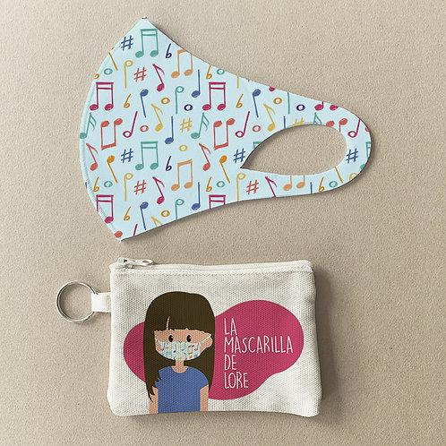 Mascarilla + Estuche Música II