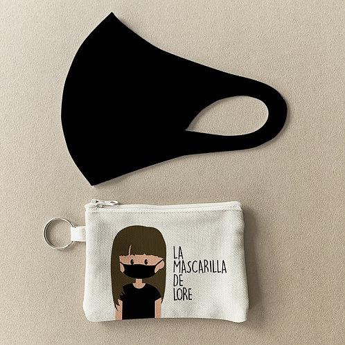 Mascarilla + Estuche Negra
