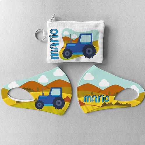 Mascarilla + Estuche Tractor