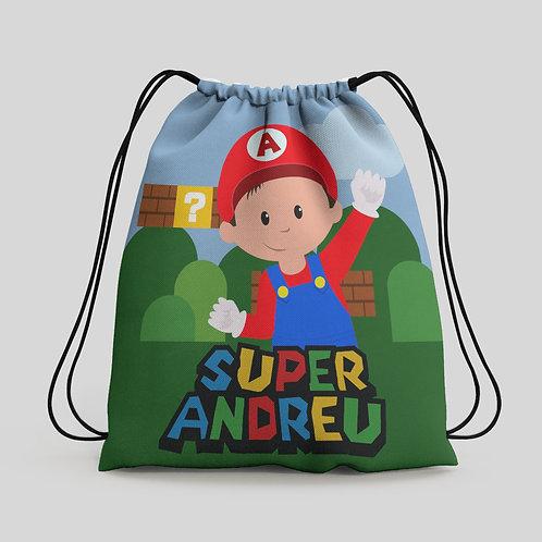 Mochila saco infantil Super Mario Bros
