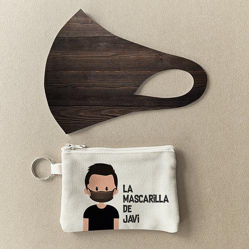 Mascarilla + Estuche Madera