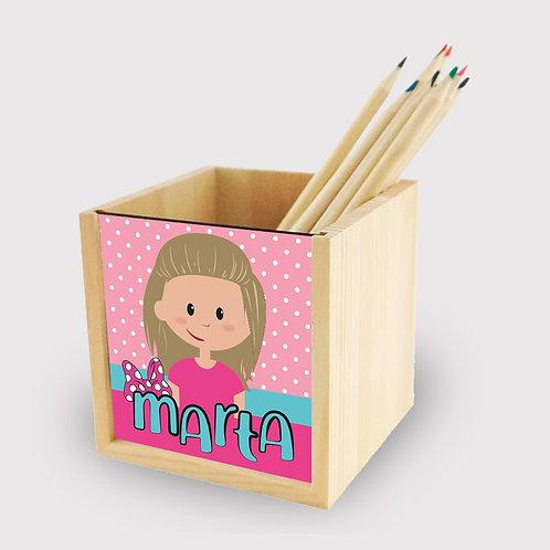 Lapicero madera Minnie