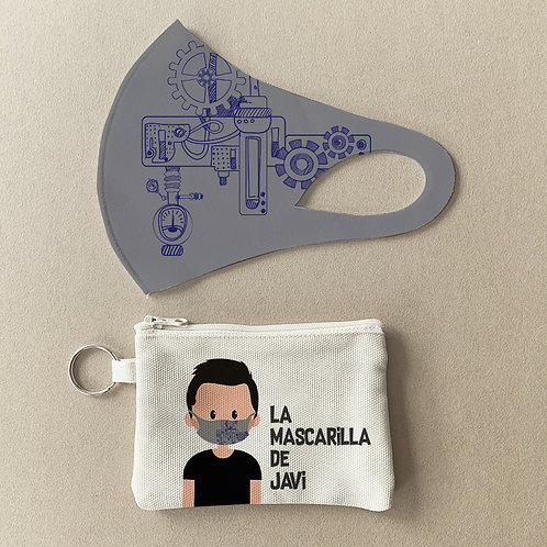Mascarilla + Estuche Maquinaria