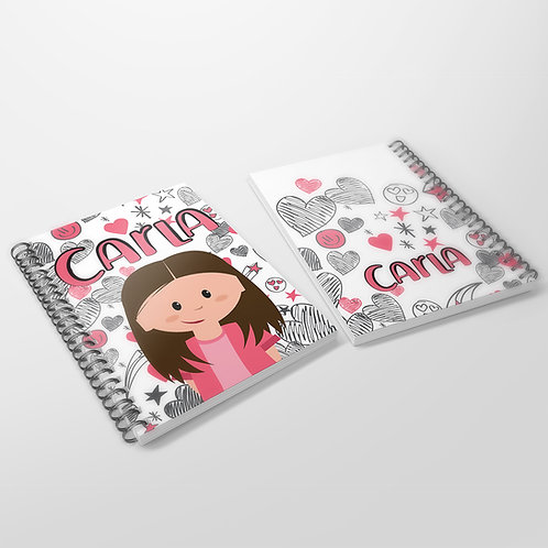 Cuaderno Corazones